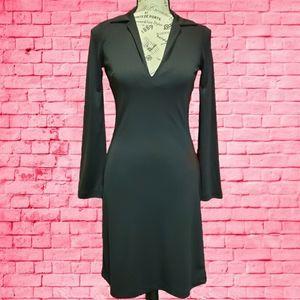 Vintage Esprit Little Black Dress V-Neck XS